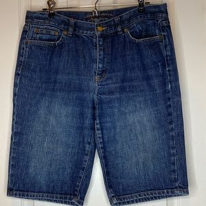 Woman's Bermuda jean shorts size 12 Lauren Ralph